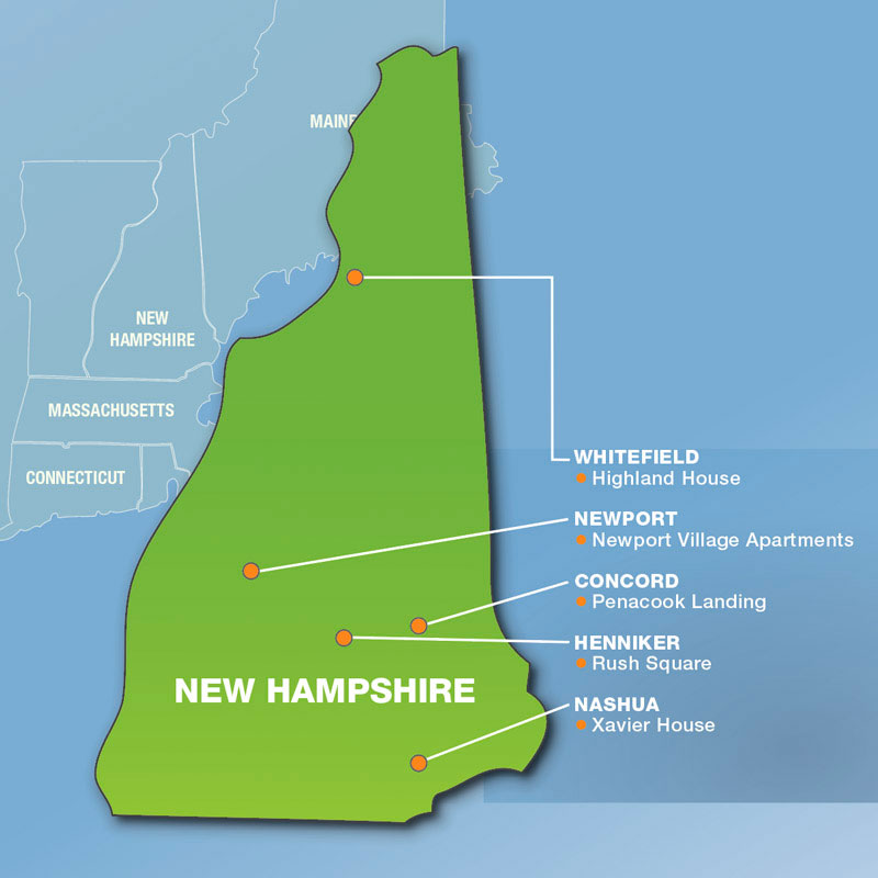 New Hampshire: Communities Served